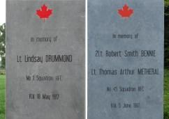 Geluwe: Onthulling Monumenten voor Lt. Drummond 2Lt. Robert Smith Bennie en Lt. Thomas Metheral - 18/05