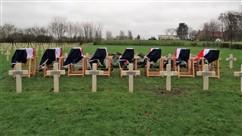 Ieper: Herbegraving van 8 Franse soldaten op Saint-Charles de Potyze - 07/12