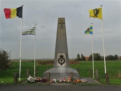Stuivekenskerke: Regiment Carabiniers Prins Boudewijn - Grenadiers herdenken te Tervate - 23/10