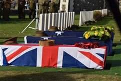 Zonnebeke: Funeral Service for 2 Unknown Soldiers of the 1st Australian Imperial Force and 1 Unknown Soldier of The Lancashire Fusiliers - 06/11
