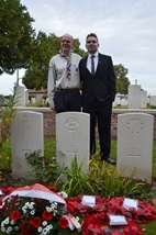 Ieper: Rededication service for Company Serjeant Major (CSM) Andrew Gale - 30/09
