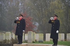 Buglers of the Last Association paid tribute to the fallen soldiers - 11/11