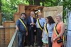 Zonnebeke: Minister-president Bourgeois bezoekt Zonnebeke church dug-out - 19/07