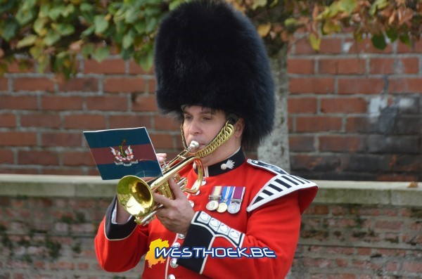 Zillebeke: Rededication service for Private John Anderson - 17/10