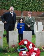 Zillebeke: Rededication service for Private John Anderson (D. Bascour) - 17/10