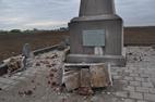 Kemmel: Obelisk 32ste Franse Divisie Kemmel getroffen door bliksem - 12/05