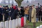 Zillebeke: Headstone rededication service - Hooge Crater Cemetery - 27/01