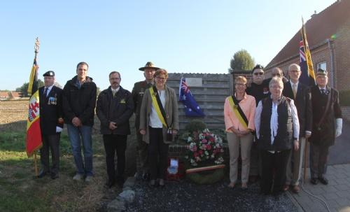 Zonnebeke: Herinneringspaneel voor drie Australische soldaten - 09/10