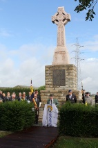 Zonnebeke: Remembrance at the Scottish monument - 21/08