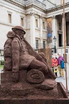 The unveiling of the Mud Soldier