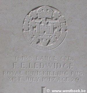 Honderdjarige herdenking van de dood van de Ierse dichter en soldaat Francis Ledwidge