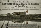 Rij mee met een WO1-tank in het weekend voor 11 november